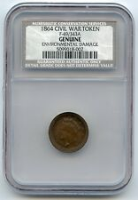 1864 CWT-FULD 49/343-FLIP OVER DOUBLE STRIKE-NCS/NGC R9 2-4 KNOWN VERY RARE