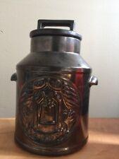 👀Wow!  McCoy Gold Metallic  1976 Bi-Centennial Liberty Bell Cookie Jar Milk Jug