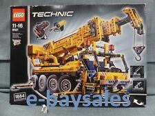 RARE HUGE TECHNIC LEGO SET MOBILE CRANE + CHERRY PICKER 8421 REAL PISTONS +MOTOR