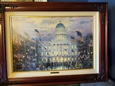 Flags Over The Capitol Painting By Thomas Kinkade