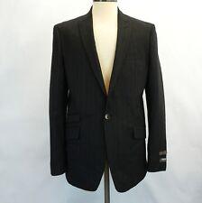 Ben Sherman Mens Suit Charcoal Pinstripe 1 Button Sports Coat Jacket 42L 36W