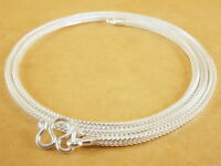 Genuine 925 Sterling Silver White Foxtail Wheat Pendant Necklace Chain 24''2.2mm