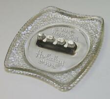 Vintage Holiday Inn Hotels Glass Advertising Cigarette AshTray