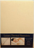 KING SIZE FLANNELETTE DUVET COVER SET IVORY 100% BRUSHED COTTON SOFT TOUCH