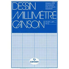 Canson MM A3 Artists Dessin GRAPH Paper Pad. 50 Sheets 90gsm For Pen or Pencil.