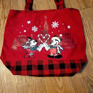 Disney Mickey & Minnie Mouse Tote Bag Carry-On Travel Beach Bag* NEW WITH TAGS*