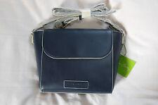NWT Vera Bradley Faux Leather FLAP CROSSBODY in CLASSIC NAVY purse 14320-219