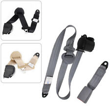 3 Point Car Front Seat Belt Buckle Kit Automatic Retractable Safety Straps Dossy