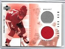 BRENDAN SHANAHAN 2002 UD CHALLENGE FOR THE CUP DUAL 3 COLOR GAME USED JERSEY