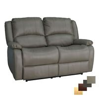 "RecPro Charles 58"" Double RV Wall Hugger Recliner Sofa RV Furniture Putty"