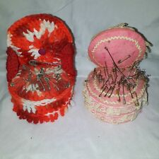 Lot Of 2 Vintage Chair Shaoed Pin Cushions
