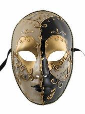 Maske Venetian Verkleidung Schwarz Und Gold- Mystery Karneval Venedig 1874 V63