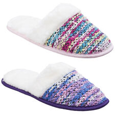Divaz Salzburg Knitted Slip On Womens Knit Mules Flat Slippers Ladies