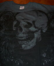 SKULL Tattoo Print T-Shirt XL Halloween NEW