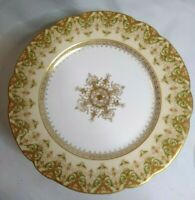 """Set 12 Antique Charles Ahrenfeldt Limoges France Porcelain Salad Plates 8.5"""""""