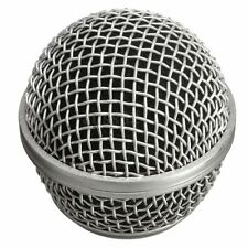 Metal Replacement Ball Head Mesh Microphone Grille for Shure Beta58 CBE Silver