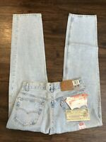 Vintage Levis 501XX Men's 34x32 Button Fly Jeans Light Wash Denim Made USA