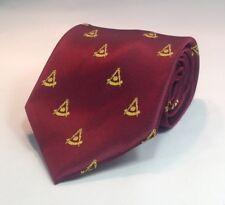 Past Master NO Square Woven Necktie - Maroon (PMNS-NT-M)