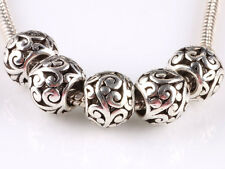 hot 5pcs retro Tibetan silver big hole beads fit Charm European Bracelet B#609