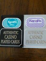 24 Decks(2 Colors)Harrah's Casino Las Vegas Playing Cards. Used in Casino.