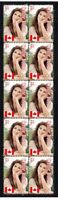 CELINE DION CANADIAN POP STAR STRIP OF 10 MINT VIGNETTE STAMPS 3