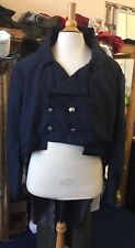Regency Style Navy Cotton Poplin Frock Coat. XL