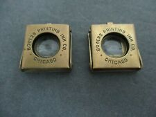 """New listing Vintage 2 Small Brass Folding Magnifying Glass Loupe Stamped """"Germany"""""""