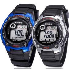 2 PCS Sports Electronic Watch Multifunction Unisex Boy Girl Waterproof Watches