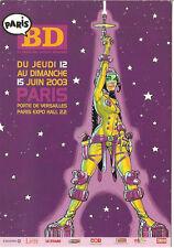 BUCHET, Philippe: NAVIS. Carte pub. Salon BD Paris (2003)