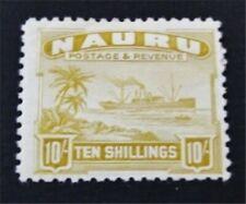 nystamps British Nauru Stamp # 30a Mint OG H $90