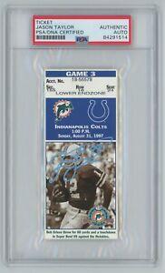 Jason Taylor Signed NFL DEBUT Ticket 8/31/97 Miami Dolphins HOF PSA slabbed AUTO