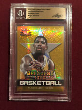 Magic Johnson 2018 Leaf Greatest Hits Valiant Prismatic Gold 1/1 BGS Cased