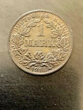 DEUTSCHES REIGH -1 GERMAN SILVER MARK YEAR 1914 AA -RRRRR