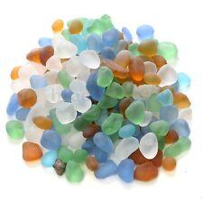 Beach Sea Glass 5~15mm Beads Mixed Colors Bulk Jewelry Bracelet Decor 100g HOT