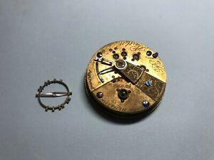 Vintage 1870 American Waltham Pocket Watch Movement 11 jewels 18s Wm. Ellery