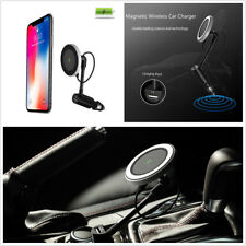 Black Embedded Magnetic Ring Qi Wireless 360° Car Charger Magnetic Mount Holder