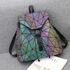 Luminous Geometric Women Backpack Girl s School Bag PVC Backbag 1142973a9812e
