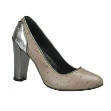 f6353e7437ef1f Just Cavalli Gris Cuir Talon Haut Chaussures Plates Us 10
