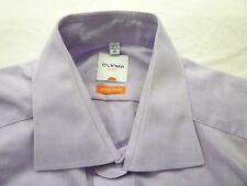 E7971 Olymp Luxor slim line Businesshemd Kombimanschette 40 lila glänzend