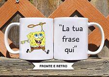 Tazza ceramica SPONGEBOB 15 CON FRASE PERSONALIZZATA ceramic mug