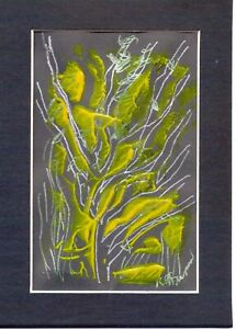 TREE by RUTH  FREEMAN MIXED MEDIA MEASURES  5  X 7 WITH INCLUDED MAT