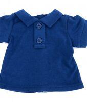 "Navy Blue Polo T Shirt for American Girl or Boy 18"" or Baby 15"" LOVV LOVVBUGG!"