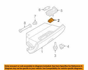 For Mini Genuine Glove Box Latch 51167056615