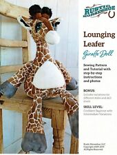 """""""Lounging Leafer"""" Giraffe Doll Pattern By Rustic Horseshoe"""