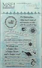 NEW! My Sentiments Exactly! Clear Stamps Y585 Christmas Time