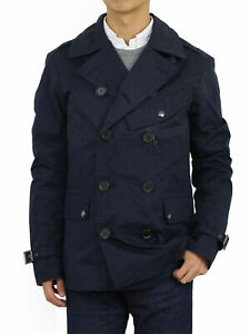 Polo Ralph Lauren Nylon Naval P-coat Type Jacket Coat - Navy