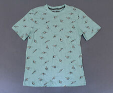 Eighty Eight Men's Paper Airplane Printed Short Sleeve T-Shirt Mw7 Blue Small