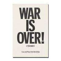 War is Over Silk Poster 1969 Beatles John Lennon and Yoko Ono 13x20 24x36'' J797