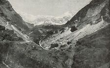 D1670 Chiesa in Valmalenco - Cave di tegole d'ardesia - Stampa - 1926 old print