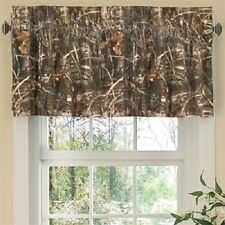 Set of (Two) - Realtree Max 4 Camo Window Valance Curtains -Wildlife Camouflage